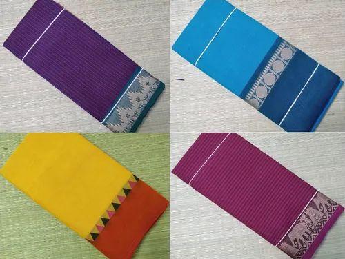 c85ac4a32a Multicolor Plain Cotton Sarees, Rs 490 /pieces, Nandhini Cotton | ID ...