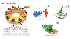 Four Sheet Wall Calendar 205