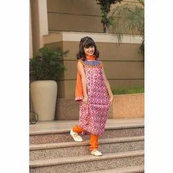 Draaz Impex Printed Baby Girl Dress