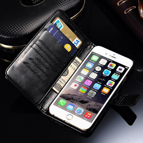 47775b8204 Tomkas Leather Case For iPhone 6,6S Plus Black, Apple iPhone Mobile ...