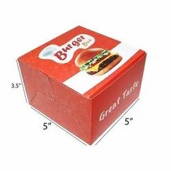 Printed Burger Packaging Box