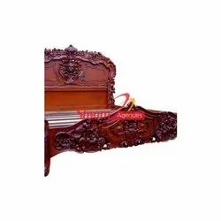 Shyam Agencies Wedding Wooden Brown Bed