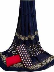 Unstitched Rapit Kalamkari Cotton Suit Set