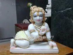 White Marble Bal Krishna Moorti