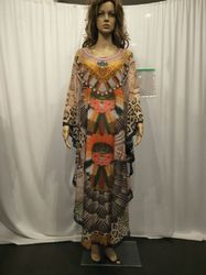 Polyester Georgette Long Kaftan in 60 inches