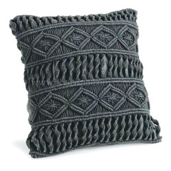 Macrame Cotton Cushion Cover
