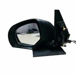 ABS Plastic And Glass Black Amaze Car Side Mirror