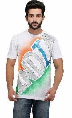 9e8a48421 Rang Rage Tricolor T Shirt White Indian Flag S, Gents T-Shirts, Men ...