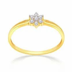 home brand Gold And Silver Ladies Fancy Designer American Diamond Laser Printed Ring, Size: Free Size