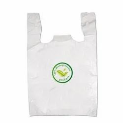 Printed White Biodegradable Carry Bags, For Shopping