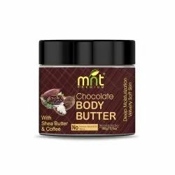 MNT Chocolate Body Butter with Shea Butter & Coffee (100g) for Dry Skin, Skretch Marks, Itchy Skin