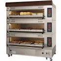 Single Trays Semi-Automatic Commercial Bakery Oven, Baking Capacity: 9 Trays