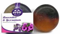 Round Lavender Geranium Handmade Soap