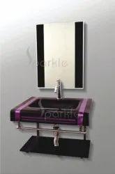 Glass Vanity Set