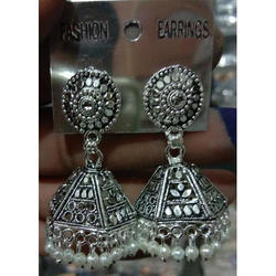 Traditional Metal Jhumka Earrings