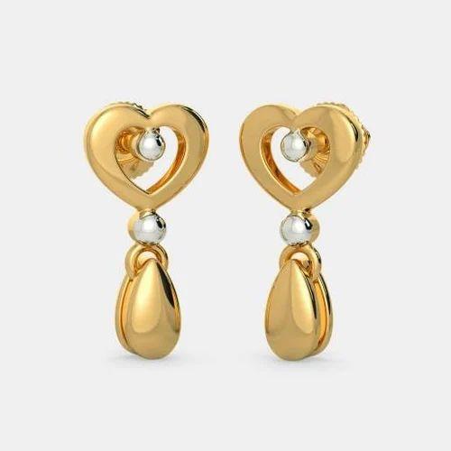 Plain Gold Earring