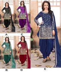Fancy Mirror Patiyala Suit