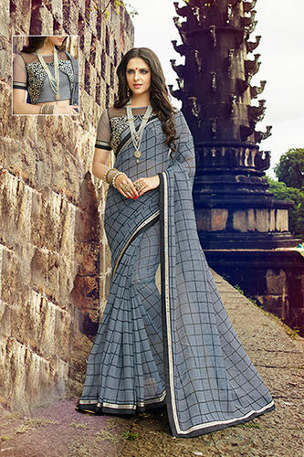 95047fbb95 Grey Party Wear, Wedding Wear Rajjo Net Designer Sarees, Rs 620 ...