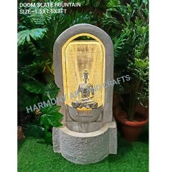 Polystone Fiber Doom Water Fountain