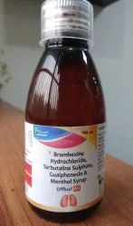 Bromhexine, Terbutaline, Guaiphenesin & Menthol Syrup