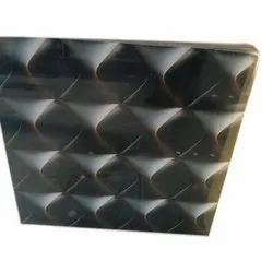 Black Wall Glossy 3D Tiles, Thickness: 10-15 mm