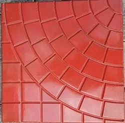 Red Chequered Tile