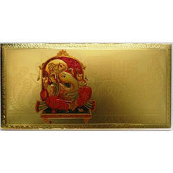 Gold Plated Shri Ganesha Envelopes
