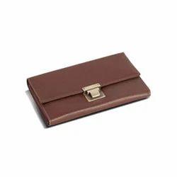 Brown Plain Ladies Wallet, Packaging Type: Box