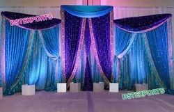 Fabric Indian Wedding Heavy Embrodried Backdrop