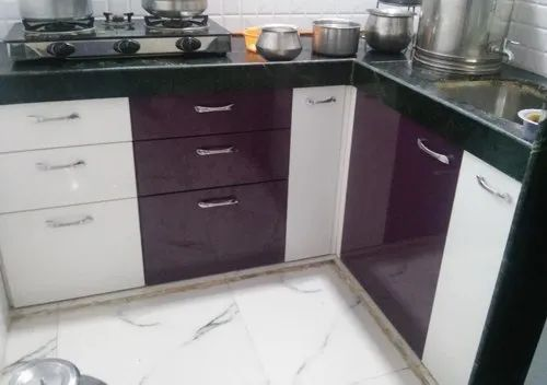 Wooden L Shape Small Modern Kitchen Work Provided Wood Work Furniture Warranty 10 15 Years Rs 31500 Unit Id 9132914712