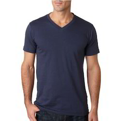 Cotton Plain Mens V Neck T-Shirt