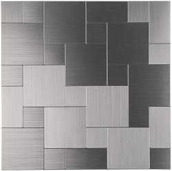 SS Anti Finger Stainless Steel Wall Tiles, For Kitchen, Thickness: 6 - 8 mm