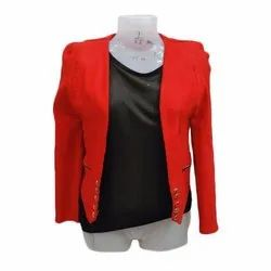 Ladies Casual Top With Jacket