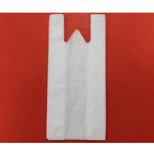 White Plain W Cut Non Woven Bag, Size: 18