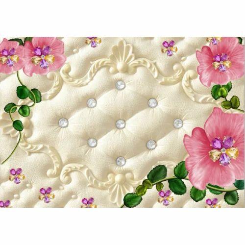 Flower Pot PVC 3D Design Wall Paper