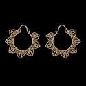 Mandala Design Tribal Boho Ethnic Brass Earrings
