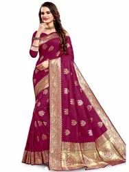Attractive Art Silk Saree With Blouse By Parvati Fabric (21702)
