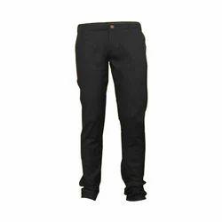 Black Cotton Corporate Trouser, Size: 34