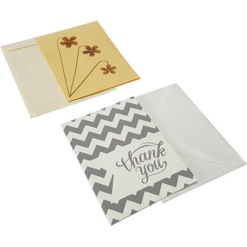 Rectangular Thank You Card With Paper Envelope