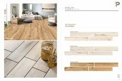 200x1200 Mm Wooden Strip Vertrified Tiles, Thickness: 8-10mm