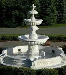 White Marble Garden Fountain