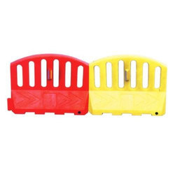 Red And Yellow Road Safety Barrier