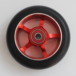 PU Wheel Black Red, Size: 50x25 Mm