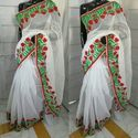 Supernet  Embroidered Party Sarees