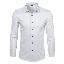 Full Sleeves Formal Wear Plain Cotton Mens Formal Shirts, Size: M