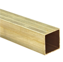 Golden Brass Rectangular Tube