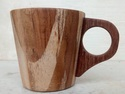 Mannbhav Natural Wooden Tea Cup, Size: 5.4 Cm