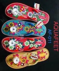 Aquafeet rubber ladies footwear, Size: 5 to 8