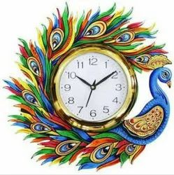 Wood New Year Wall Clock, For Home