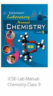 ICSE Lab Manual Chemistry Class 9 - Friends Publication